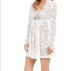 White lace long sleeve For Love and Lemons dress.